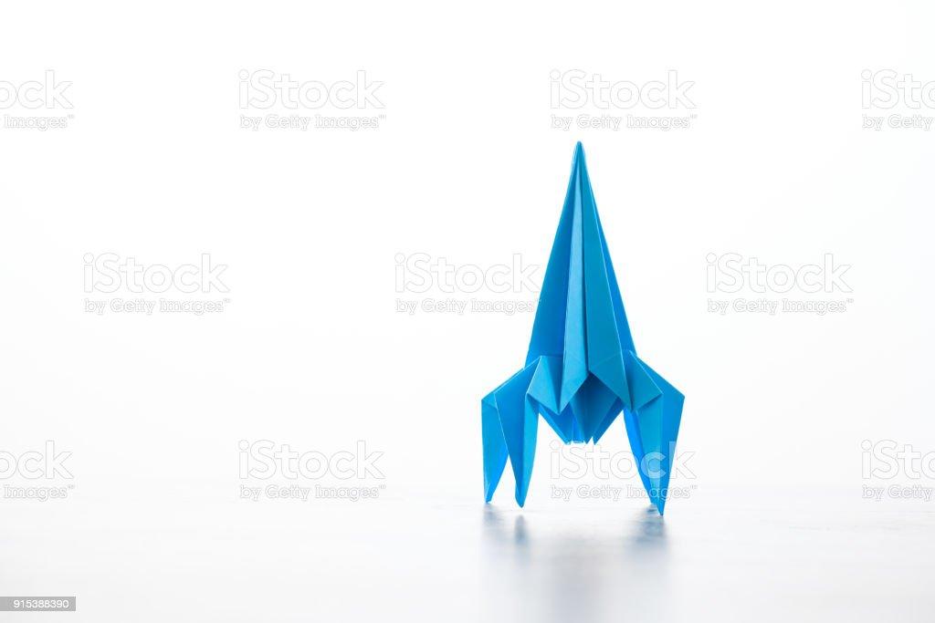 Paper Homemade Origami Rocket Royalty Free Stock Photo