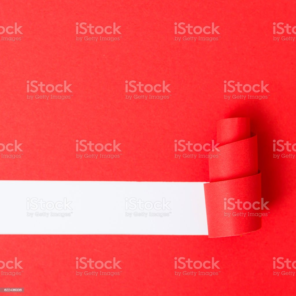 Paper in the shape of a Christmas tree stock photo