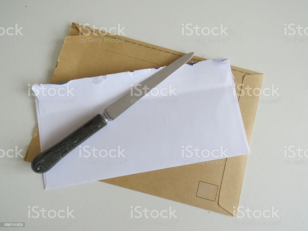 Paper Knife stock photo