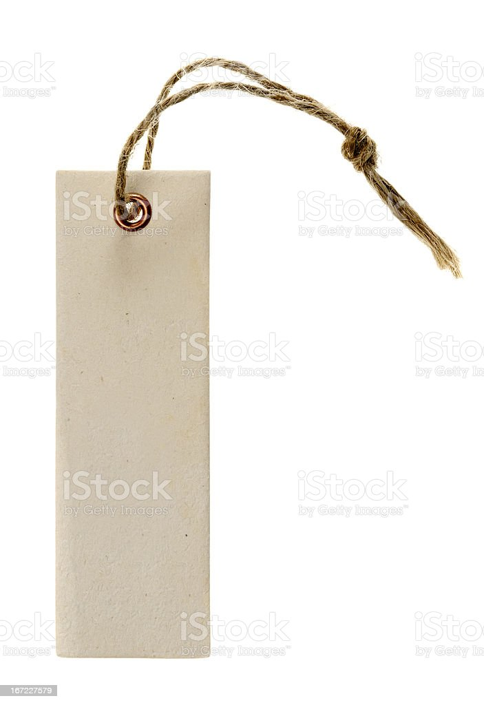 Paper label or tag royalty-free stock photo