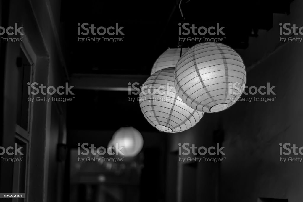Paper lamp stock photo
