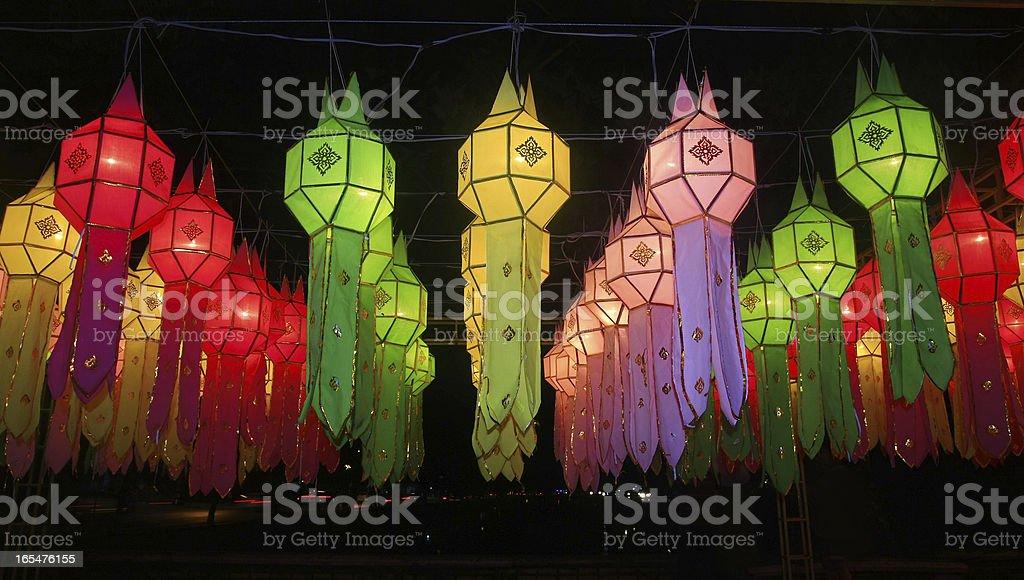 Paper lantern festival decoration , Chiang Mai ,Thailand royalty-free stock photo