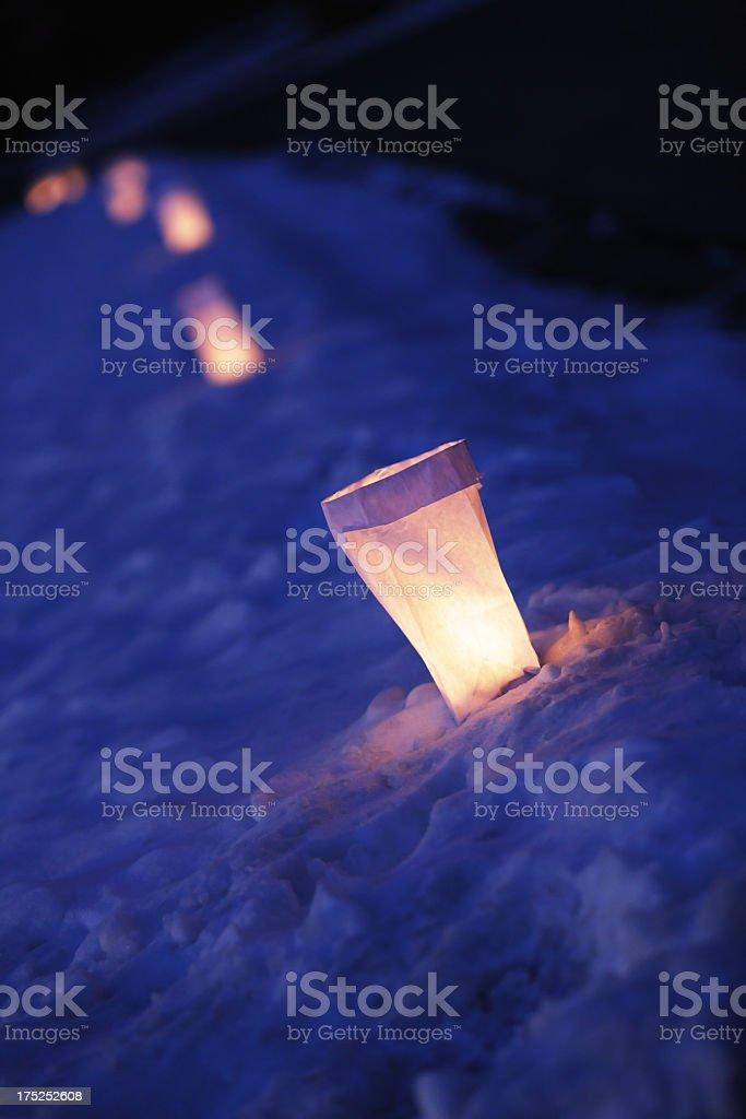 Paper Lantern Luminaries stock photo