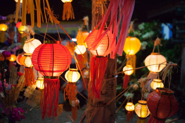 Paper lanterns Paper lanterns at the festival chinese wedding dinner stock pictures, royalty-free photos & images