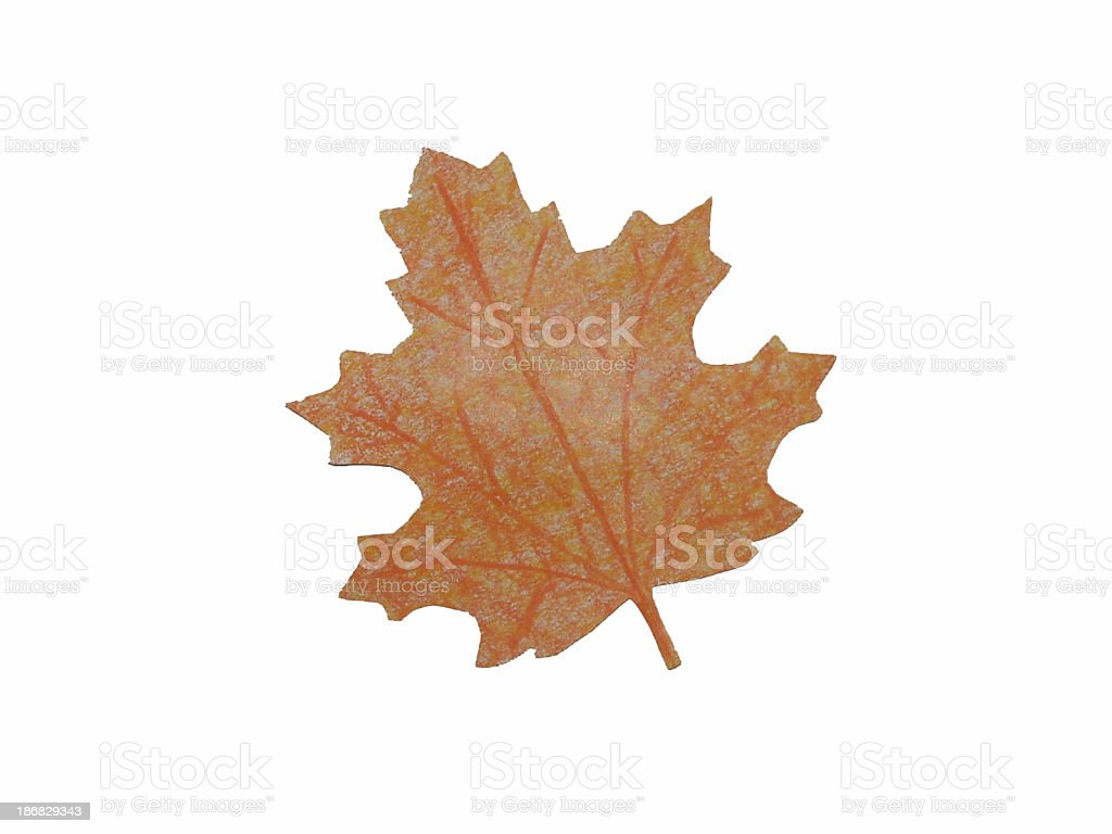Paper Leaf (5) royalty-free stock photo