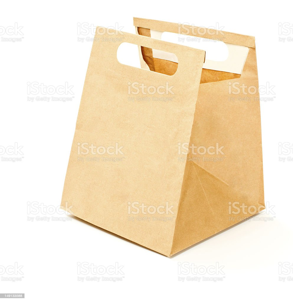 Paper lunch bag royalty-free stock photo