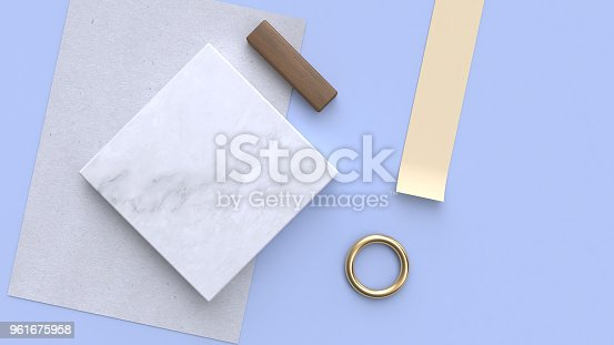 istock paper marble paper 3d rendering blue-violet-purple background 961675958
