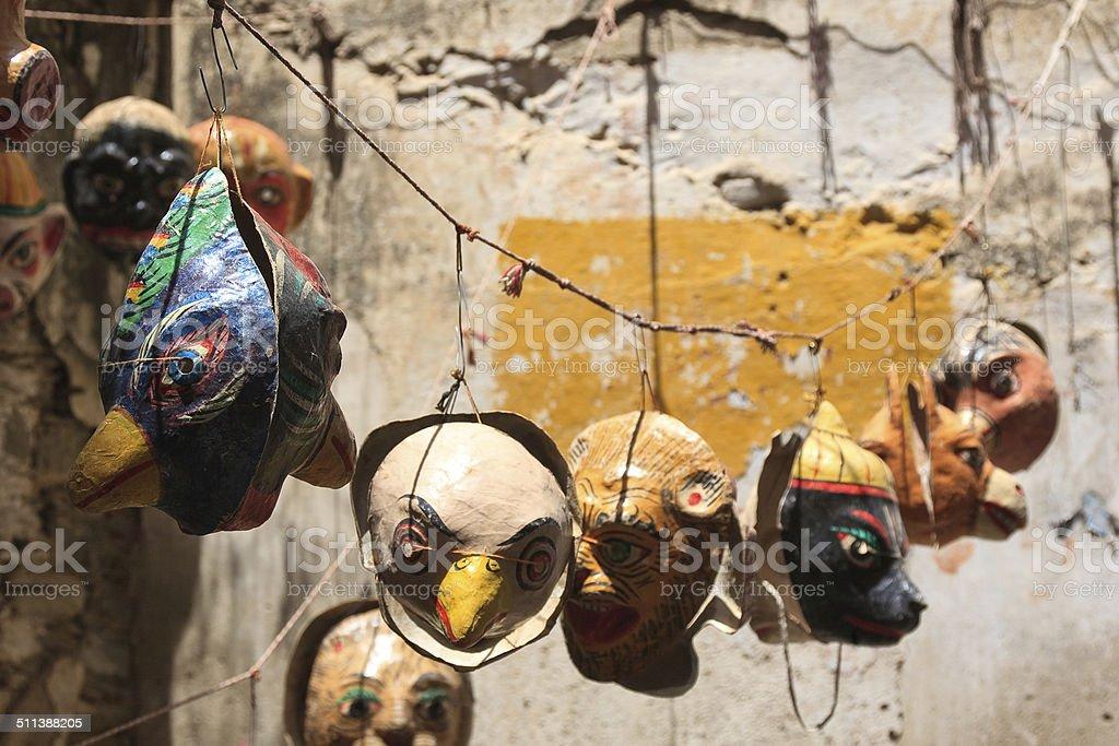 Paper masks stock photo