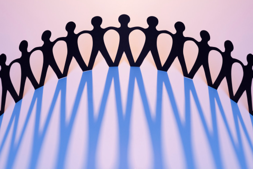 171053447 istock photo Paper Men Joined Together As Team, Union, Network, Family 166370208
