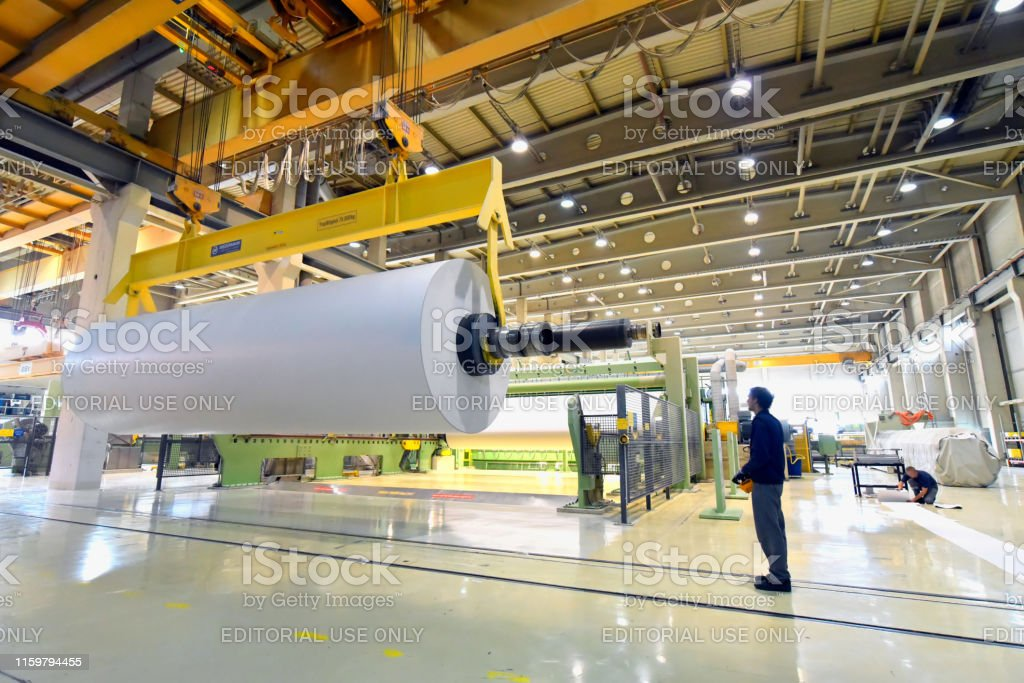 production of paper rolls for the printing industry - paper rolls in...