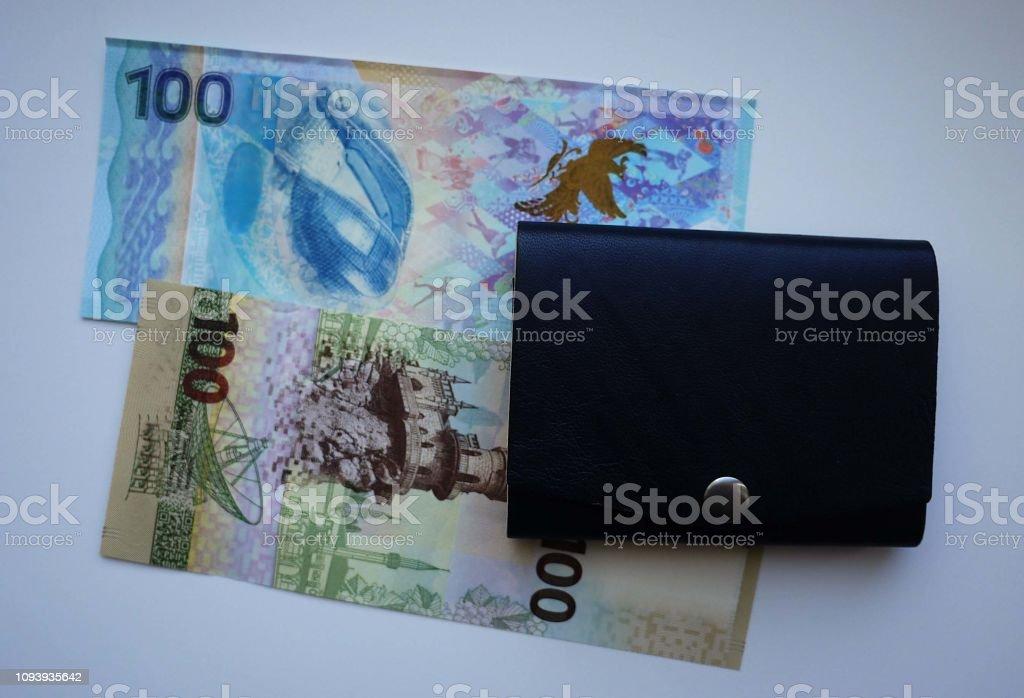 Paper money bills in your wallet