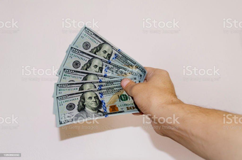 notas de cem dólares do dinheiro de papel - foto de acervo
