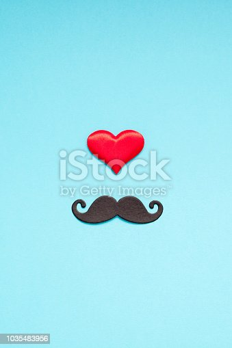 istock Paper moustaches for men fathers dad concept 1035483956