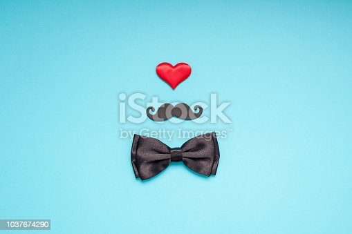 istock Paper moustaches for men fathers dad concept 1037674290