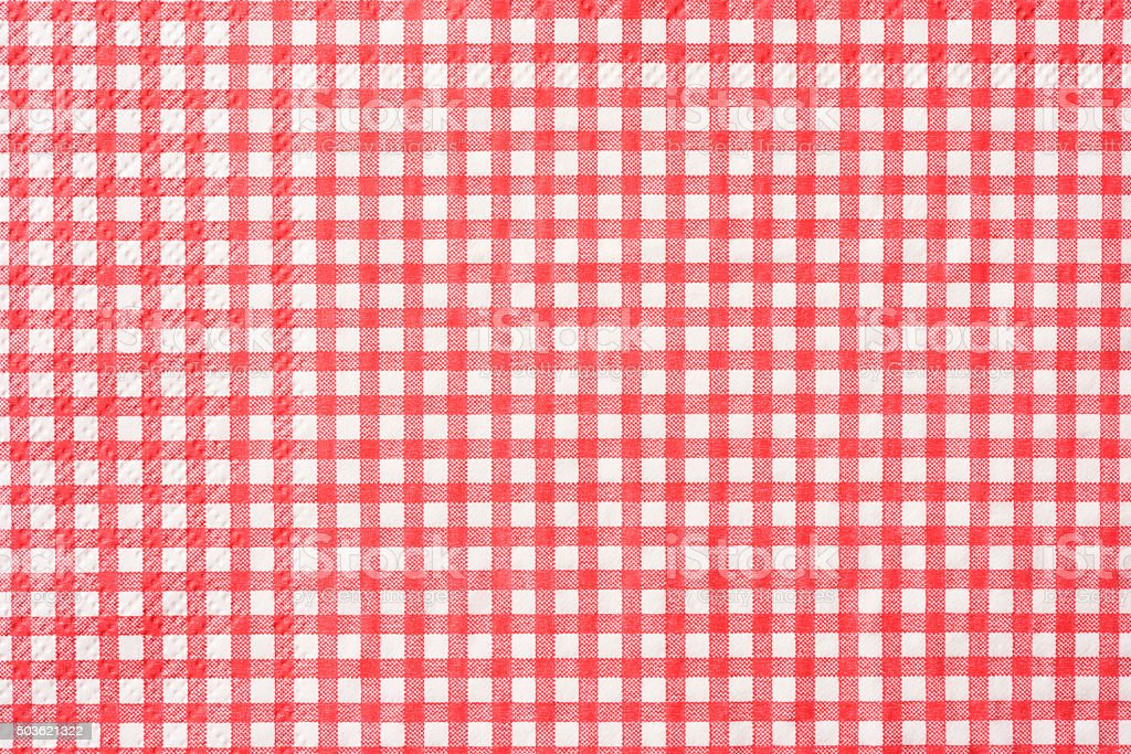 Paper napkin of pink mesh pattern texture background stock photo
