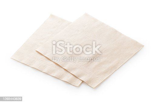 Paper napkins on a white background