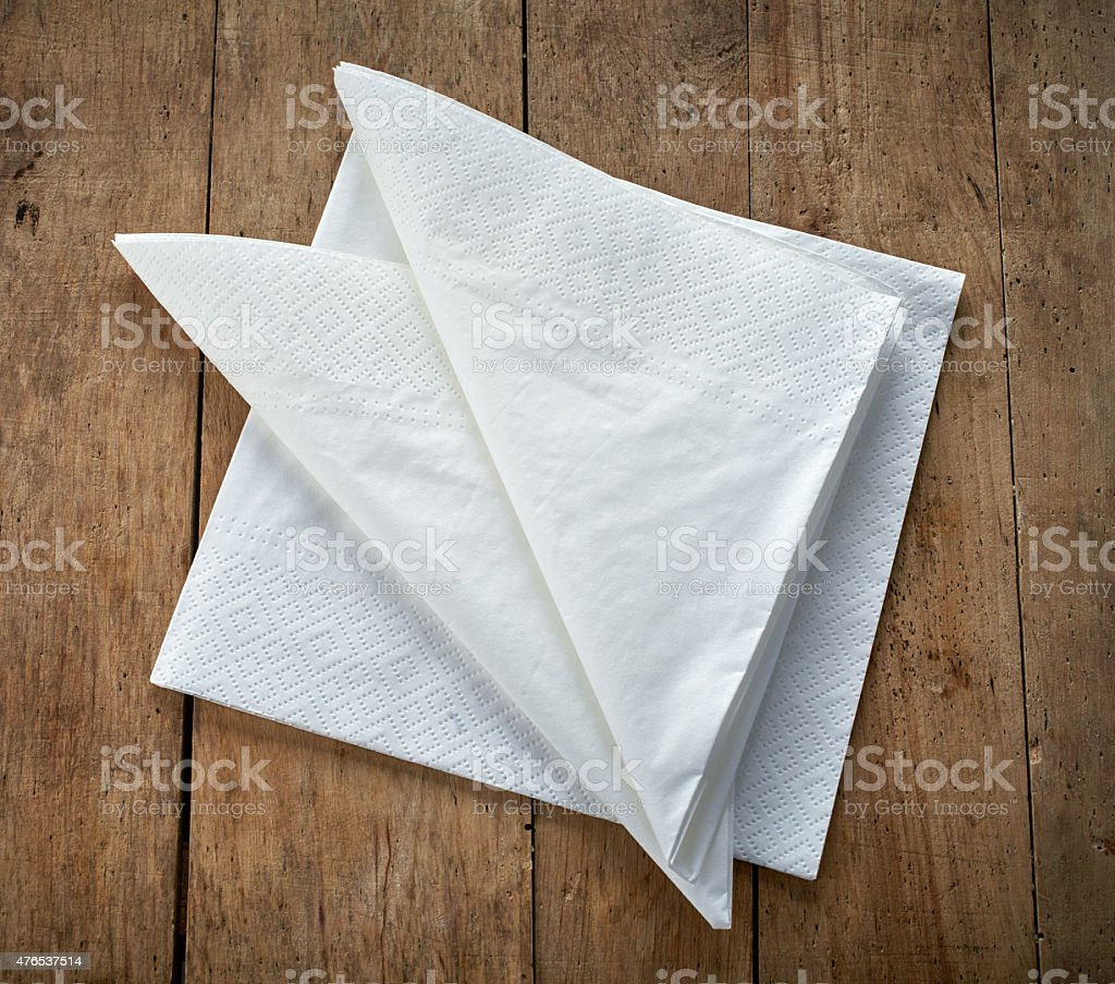 paper napkins stock photo