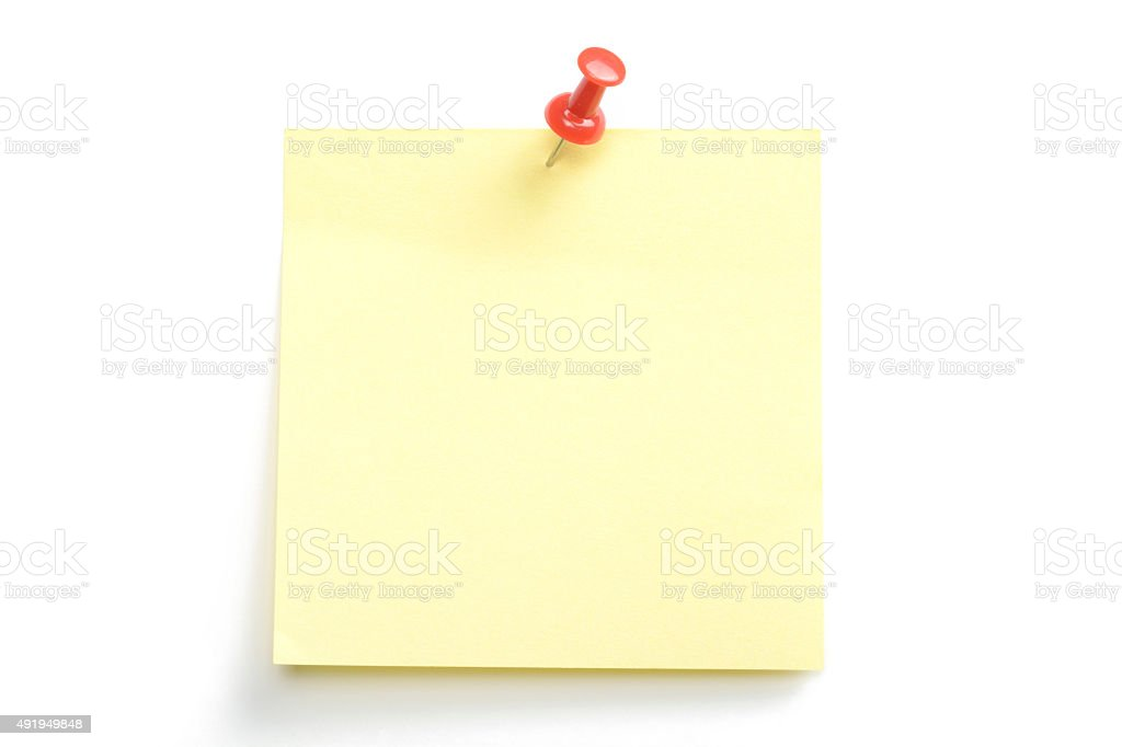 Paper note stock photo
