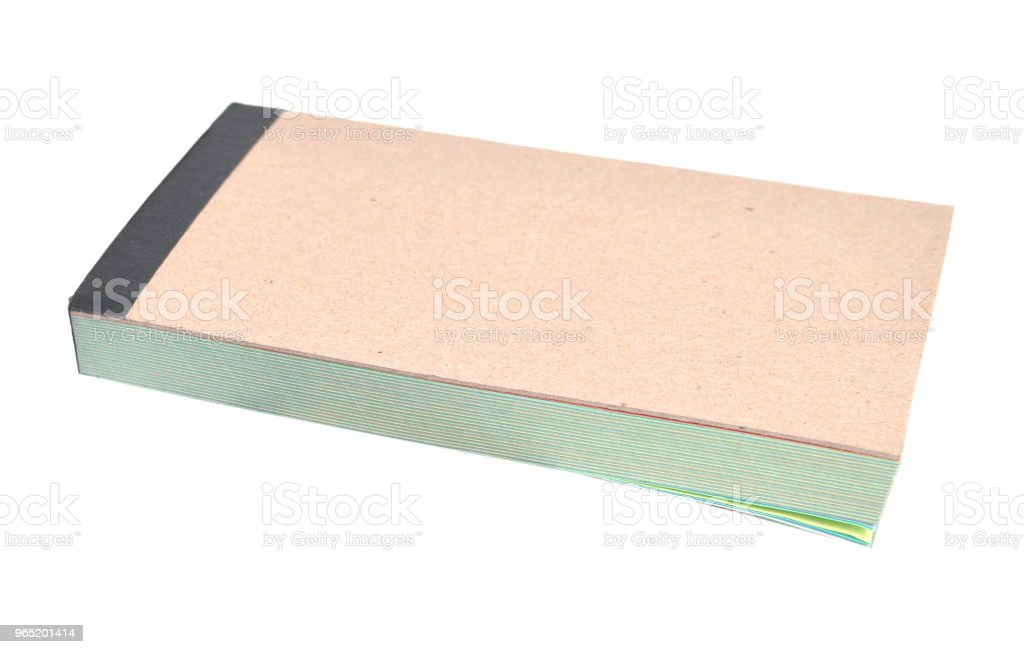 paper notepad iosolate royalty-free stock photo