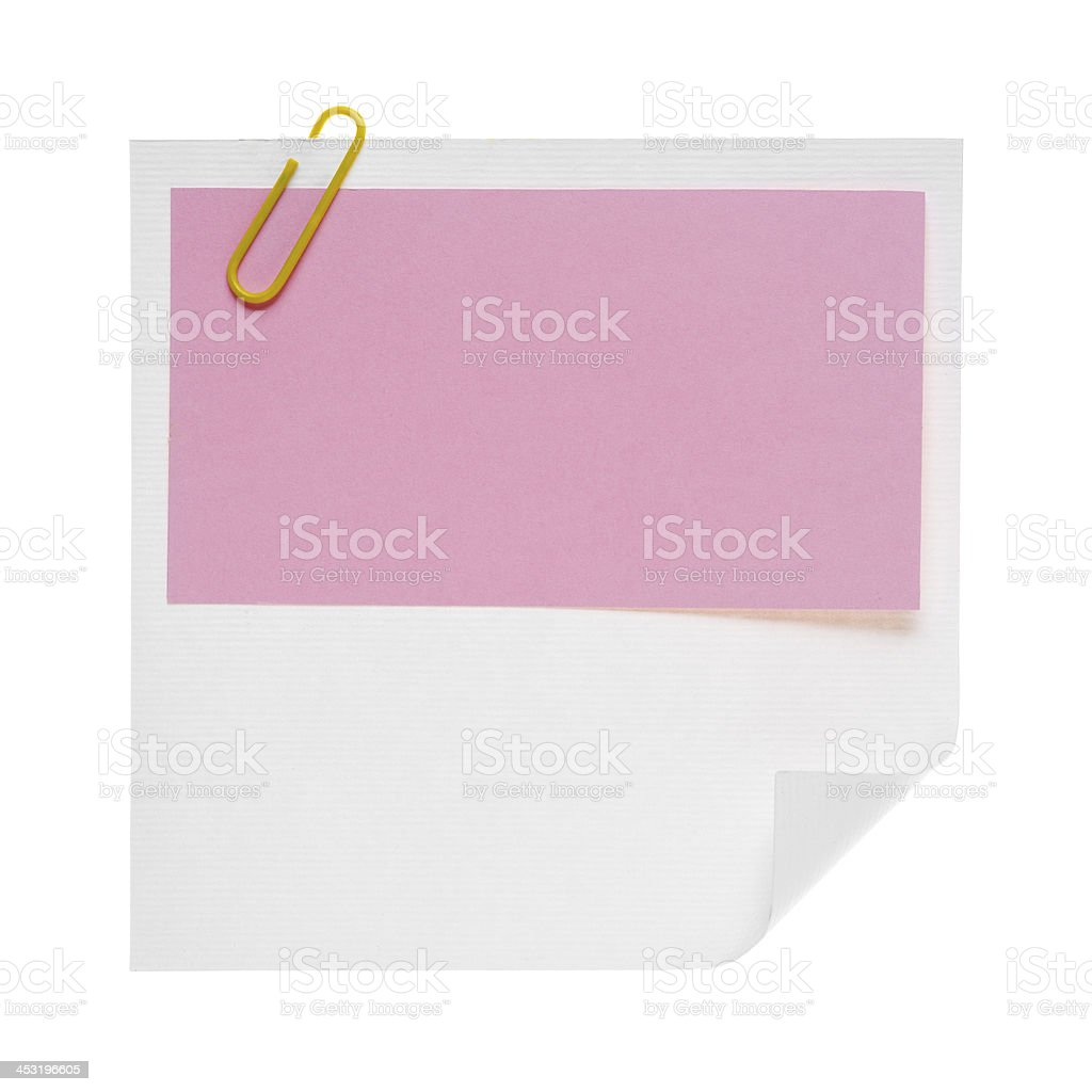 Paper notes isolated on white royalty-free stock photo