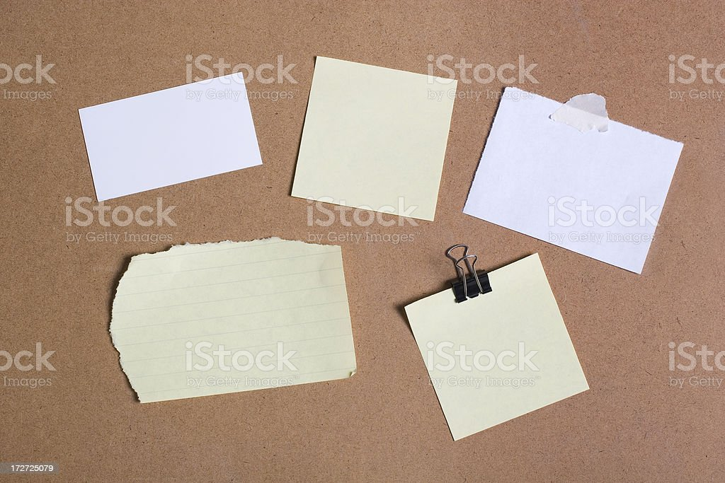 Paper Notes stock photo