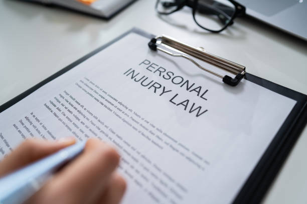 Paper Of Personal Injury Law stock photo