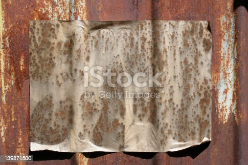 paper on a grunge wall