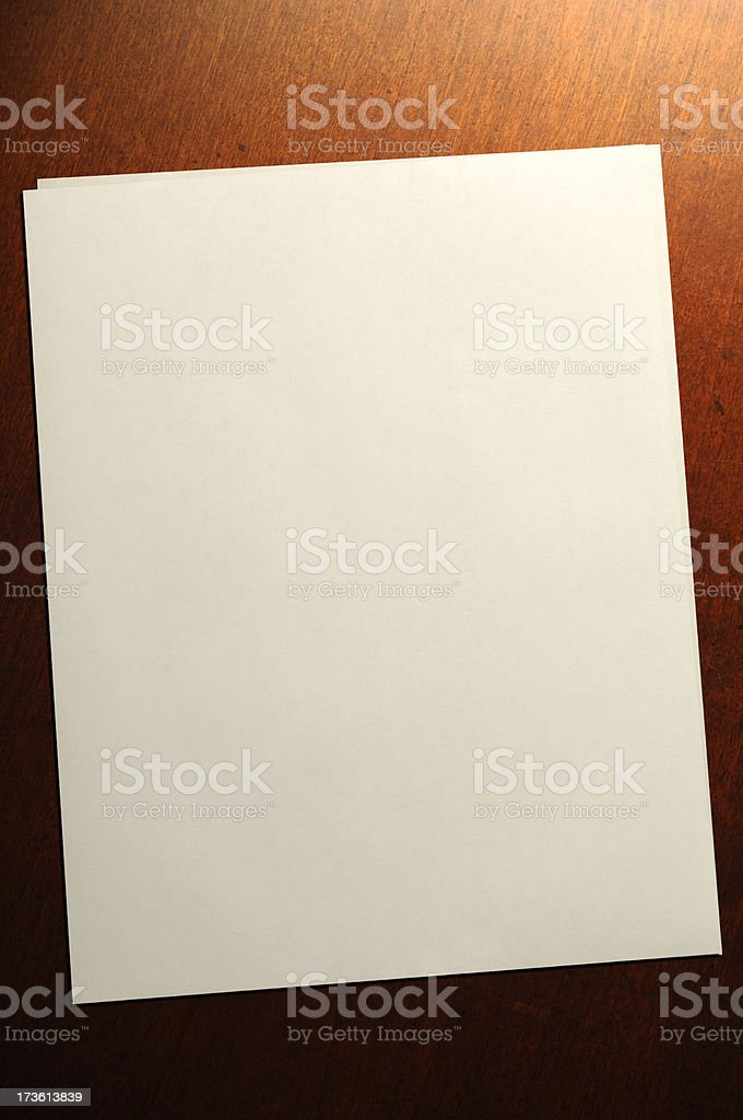 Paper on Desk royalty-free stock photo