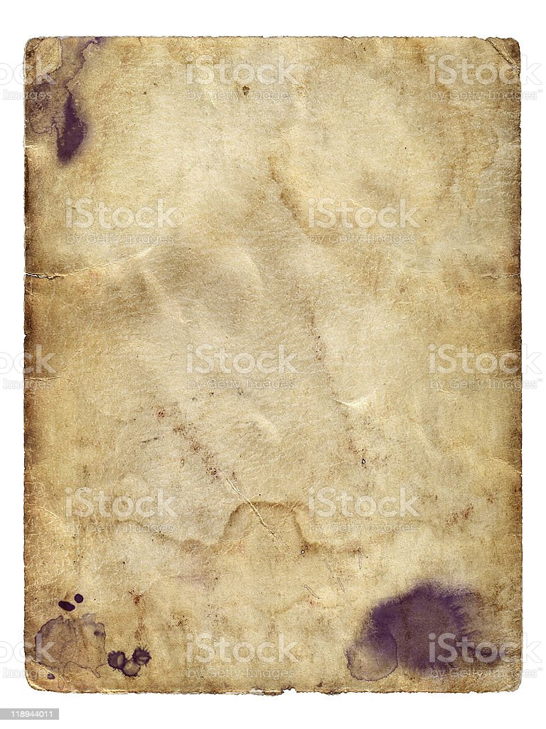 Paper on the isolated white background royalty-free stock photo