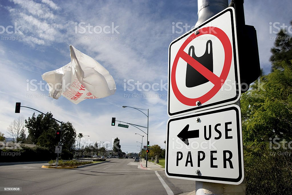 Paper Or Plastic stock photo