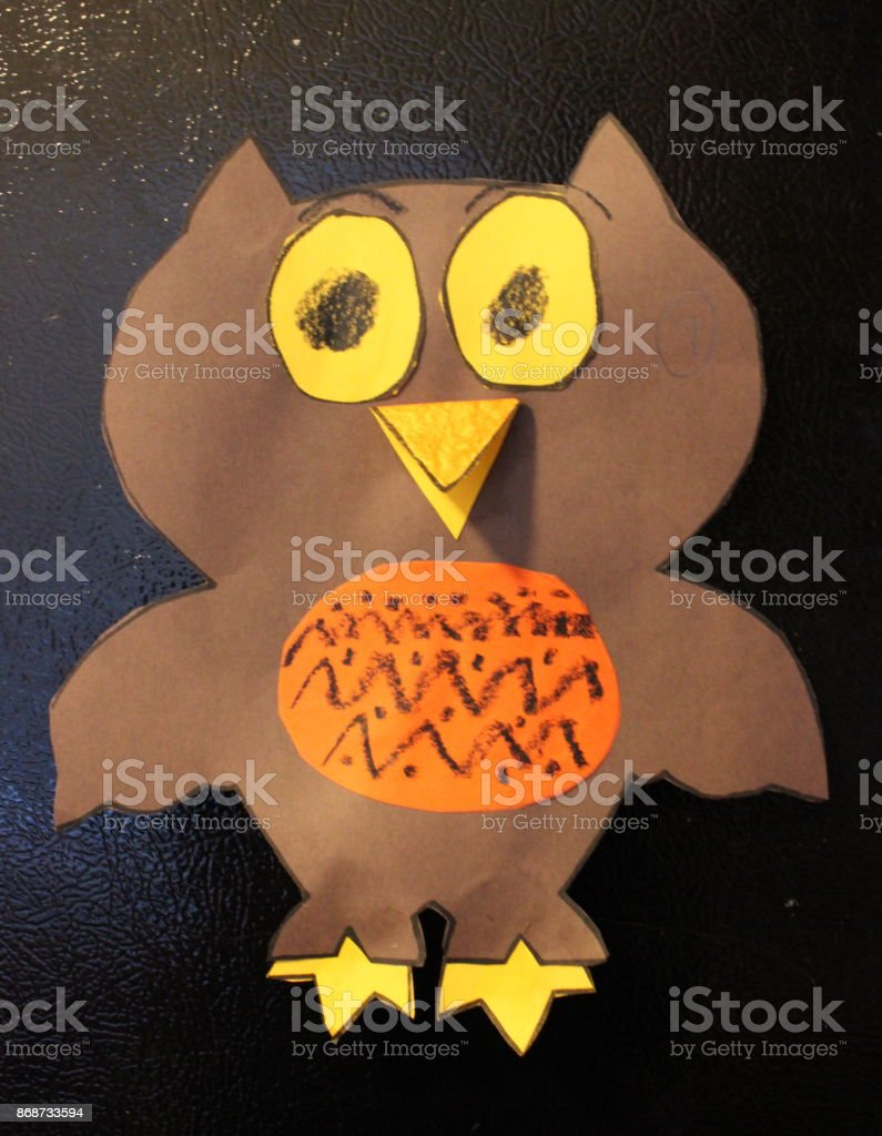 Paper Owl stock photo