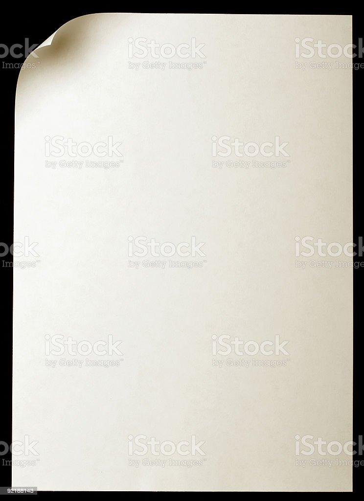 Página de papel con flexión - foto de stock