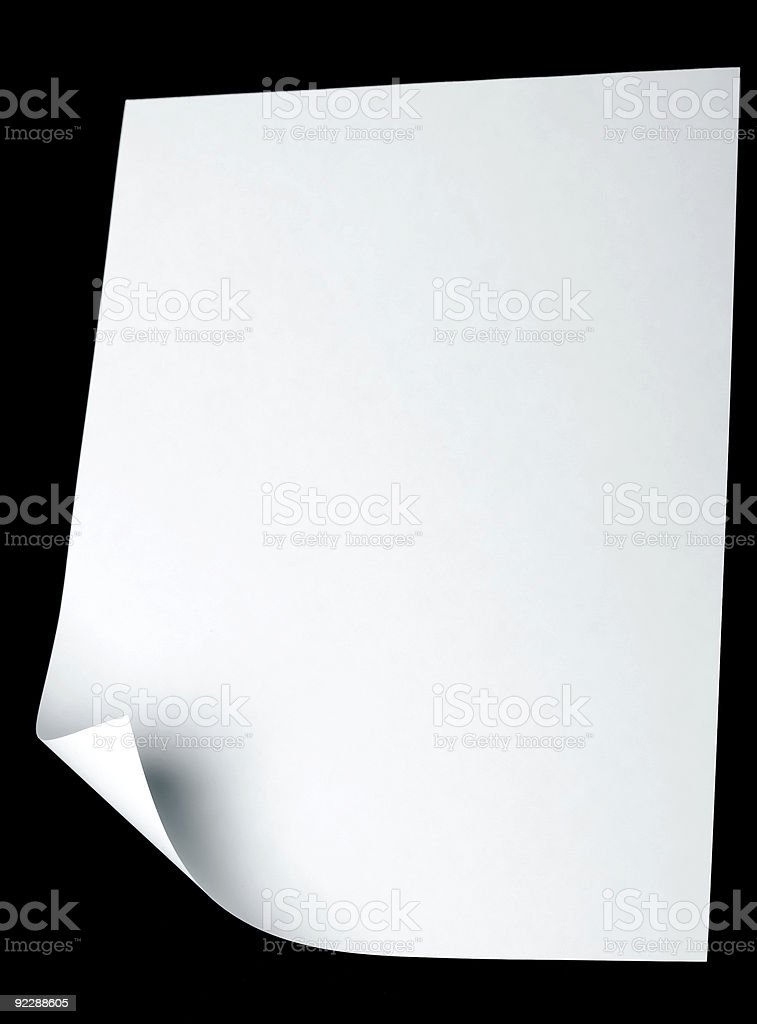 Paper page with curl royalty-free stock photo