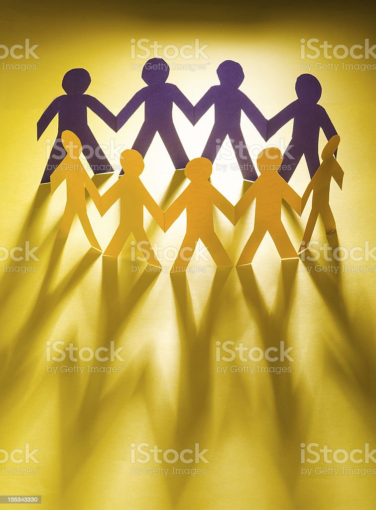 Paper people in teamworking concept royalty-free stock photo