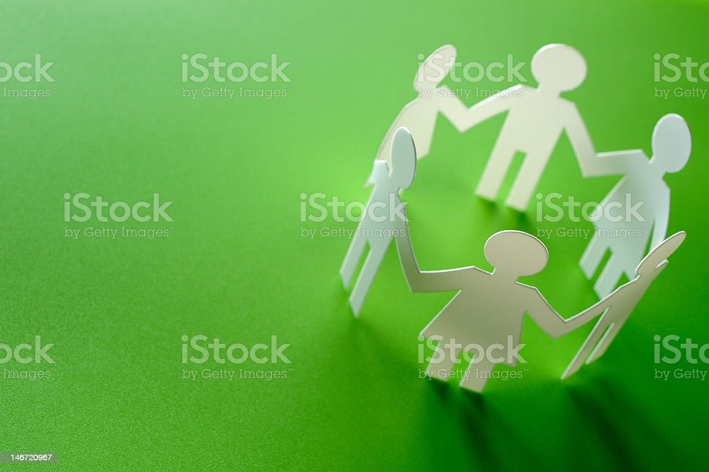 Paper people royalty-free stock photo