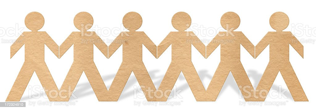 Paper People XXL royalty-free stock photo