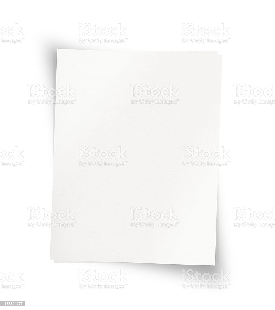 Paper (Isolated) royalty-free stock photo