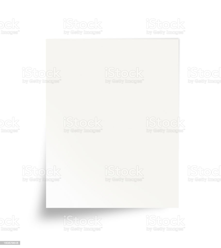 Paper (Isolated) stock photo