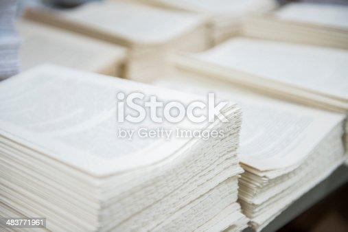at the printers, bookbinders