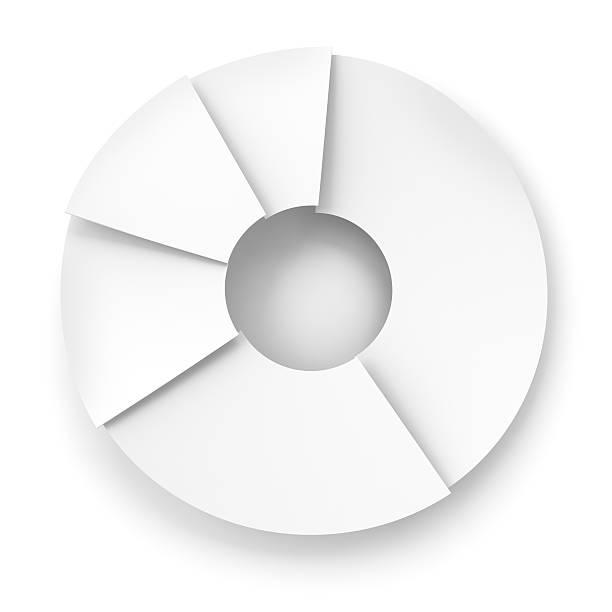 Paper pie chart, 3d render stock photo