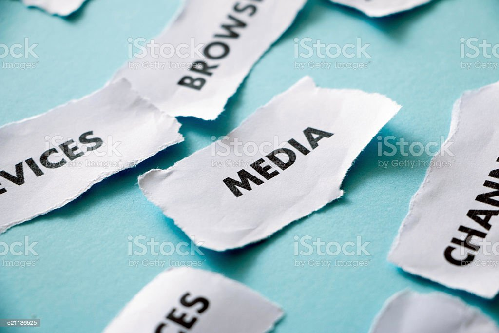 paper piece with internet technology word media stock photo