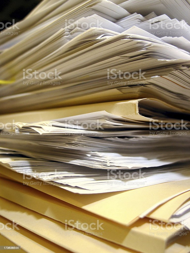Paper Pile- 03 royalty-free stock photo