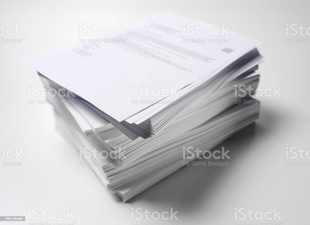 Paper Pile In Order stock photo