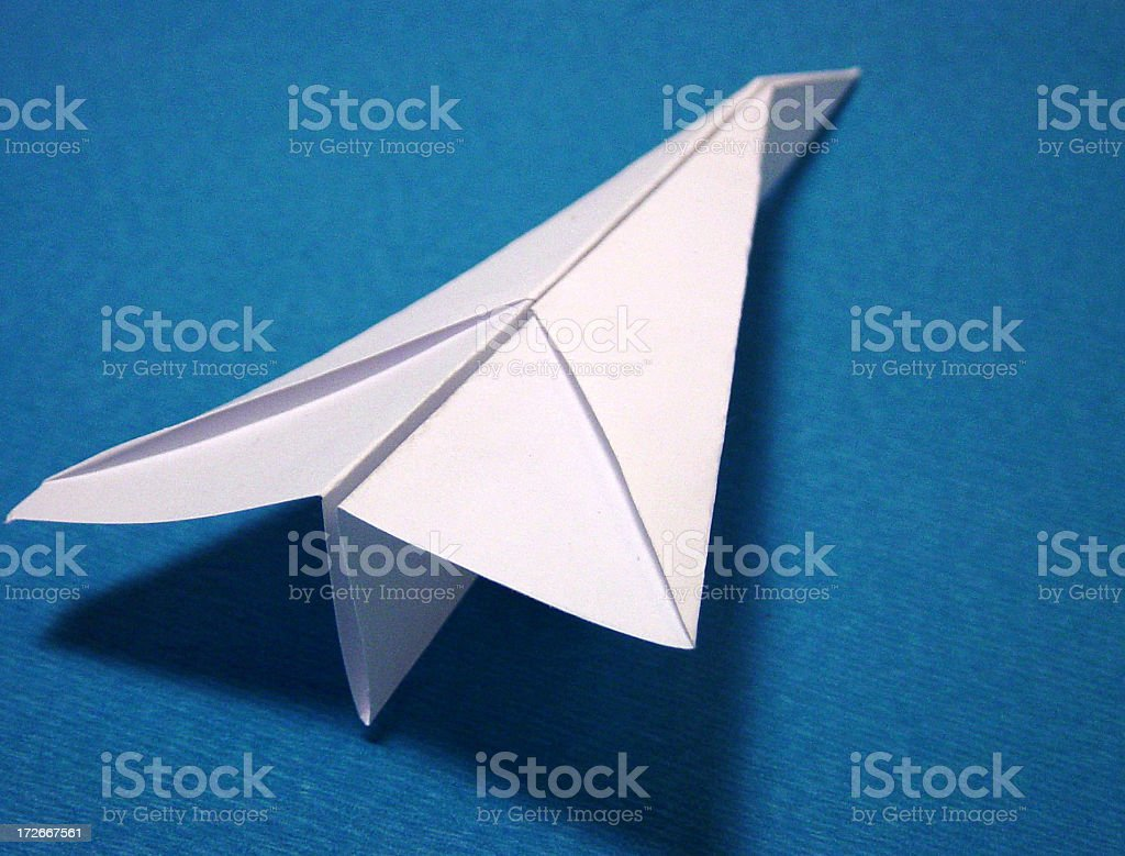 paper plane 2 royalty-free stock photo