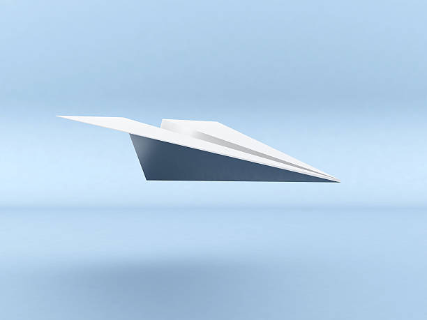 3D Paper Plane Flying stock photo