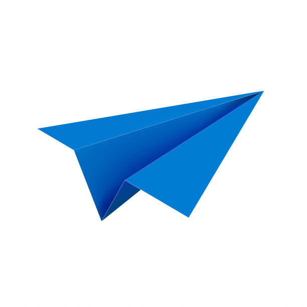 Paper plane icon Paper plane icon isolated on white background. 3d illustration paper airplane stock pictures, royalty-free photos & images