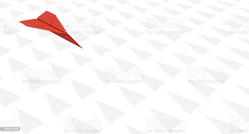 Paper Plane Individual: Against the crowd royalty-free stock photo
