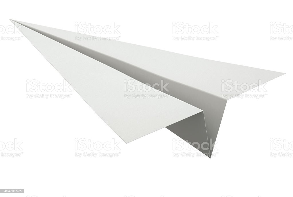 Paper Plane Isolated on White stock photo