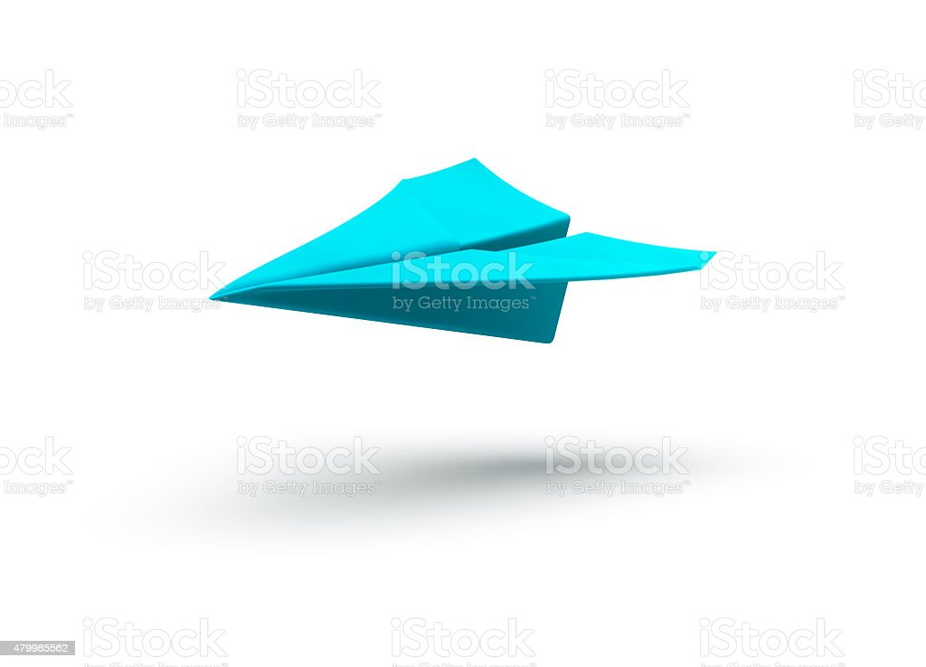Paper Plane isolated stock photo