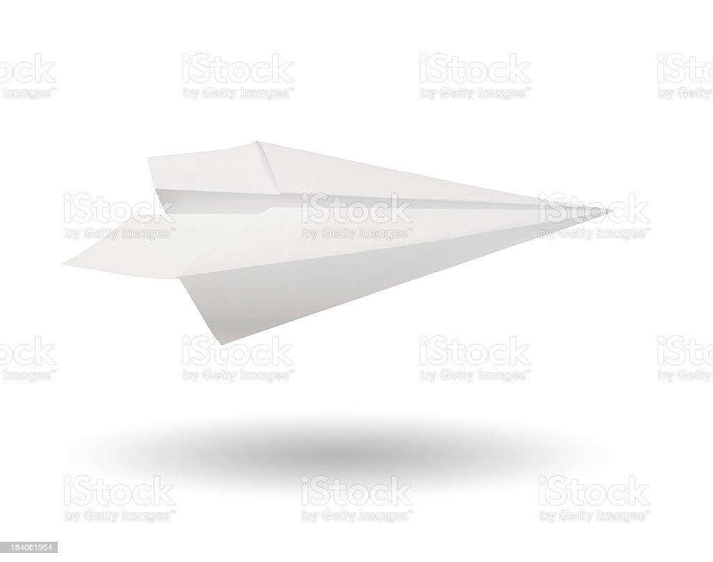 Aeroplano di carta - foto stock